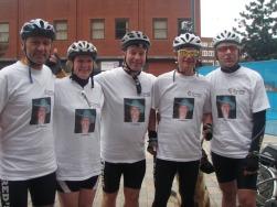 karl,Alison,Garry,Blind Dave & Duggie,Aberdovey bike ride for Lizzy